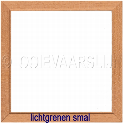 Lijstje lichtgrenen smal  15 x 15 cm