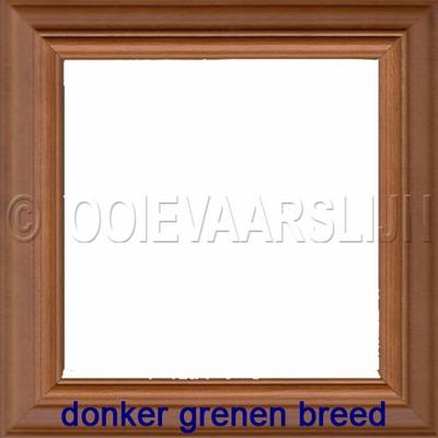 Lijstje donker grenen breed  15 x 15 cm
