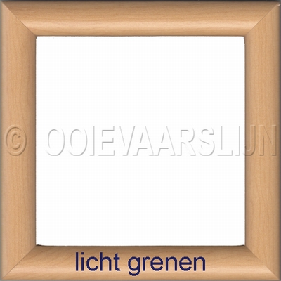 Lijstje lichtgrenen  15 x 15 cm
